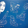 Michael Jackson Anti-Gravity Shoe Patent Artwork Print by Nikki Marie Smith