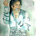 Michael Jackson Bad Tour Poster by Nicole Wang