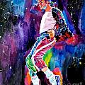 Michael Jackson Dance Print by David Lloyd Glover