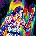 Michael Jackson Showstopper Print by David Lloyd Glover