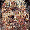 Michael Jordan Card Mosaic 3 Print by Paul Van Scott