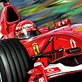 Michael Schumacher Ferrari Poster by David Kyte