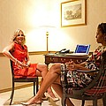 Michelle Obama And Dr. Jill Biden Wait Print by Everett