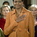 Michelle Obama At A Public Appearance Print by Everett