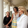 Michelle Obama Hosts First Lady Poster by Everett