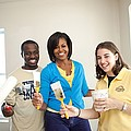 Michelle Obama Joins A United We Serve Print by Everett