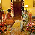 Michelle Obama Meets With Mrs by Everett