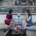 Michelle Obama With Carla Bruni-sarkozy Poster by Everett