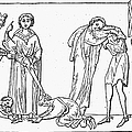 MIDDLE AGES: KNIGHTING Print by Granger