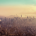 Midtown Manhattan At Dusk Poster by Matthias Haker Photography