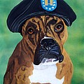 Military Boxer Print by Debbie LaFrance