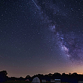 Milky Way And Perseid Meteor Shower Poster by John Davis