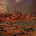 Milky Way Rising over the Valley of Fire Print by Charles Warren