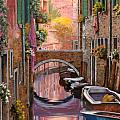 mimosa sui canali Poster by Guido Borelli