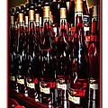 Miner Pink Sparkling Wine Poster by Joan  Minchak