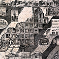 Mining On The Comstock, Cutaway Print by Everett