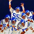 Minnesota Vikings Front Four  Print by Cliff Spohn