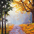 Misty Autumn Painting Poster by Graham Gercken