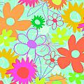 Mixed Flowers Poster by Louisa Knight