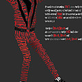 MJ_Typography Print by Mike  Haslam