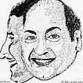 Mohammed Rafi Sketch Younger and Older Poster by Ashok Naraian