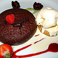 Molten Chocolate Lava Cake Print by Karon Melillo DeVega