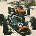 Monaco Grand Prix 1967 Poster by Nomad Art And  Design