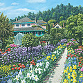 Monet's Garden Giverny Poster by Richard Harpum