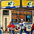 MONTREAL POOLROOM HOCKEY FANS Print by CAROLE SPANDAU