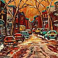 MONTREAL STREETS IN WINTER Poster by CAROLE SPANDAU