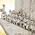Monument to discoveries Print by Carlos Caetano