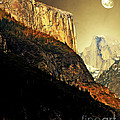 Moon Over Half Dome . Portrait Cut Poster by Wingsdomain Art and Photography