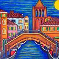 Moonlit San Barnaba Print by Lisa  Lorenz