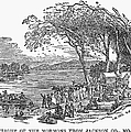 MORMON FLIGHT, 1833 Print by Granger