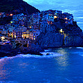 Morning in Manarola Print by Barbara Walsh