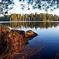 Morning on Chad Lake 2 Print by Larry Ricker