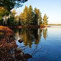 Morning on Chad Lake 4 Print by Larry Ricker