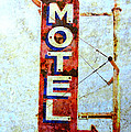 Motel 77 Sign Poster by Ann Powell