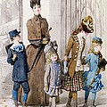 Mother and children in walking dress  Print by Jules David
