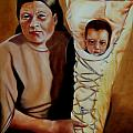 Mother and Son Print by Joni McPherson