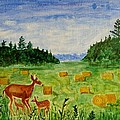 Mother Deer and kids Poster by Sonali Gangane