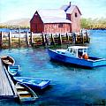 Motif One Rockport Harbor Print by Jack Skinner