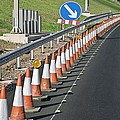 Motorway Traffic Cones Poster by Linda Wright