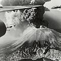 Mount Vesuvius Coughs Up Ash And Smoke Poster by Us Army Air Forces Official