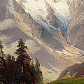 Mountain Landscape with the Grossglockner Poster by Nicolai Astudin