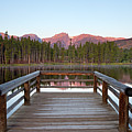 Mountains Behind Sprague Lake Print by Lightvision, LLC
