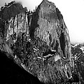 Mountains of Yosemite . 7D6167 . Vertical Cut . Black and White Poster by Wingsdomain Art and Photography