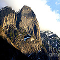 Mountains of Yosemite . 7D6167 Poster by Wingsdomain Art and Photography
