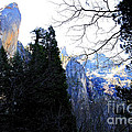 Mountains of Yosemite . 7D6213 Poster by Wingsdomain Art and Photography