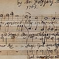 MOZART: MOTET MANUSCRIPT Poster by Granger